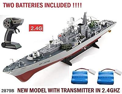 MODELTRONIC New Bateau radiocommandé Navire Télécommande Destructeur de Guerre Battleship Sovremenny échelle 1:115 en 2.4Ghz sans interférence / Bateau radiocommandé / avec 2 Batteries HT-2879B