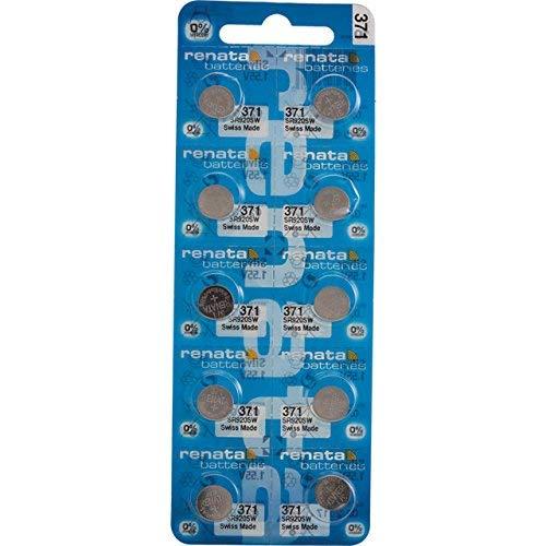 Renata 371nicht aufladbaren Akku, Uhr, einzelne Zelle, Silberoxid, 40mAh, 1,55V, SR69, Flat Top, 1 pack, 1