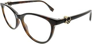 Fendi F Is Fendi FF 0332 086 Dark Havana Plastic Cat-Eye Eyeglasses 52mm