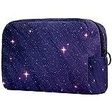 Bolsa de maquillaje portátil de viaje grande para cosméticos, neceser maquillaje o afeitadora, bolsa de afeitar para hombres, mujeres y niñas Galaxy Space Ultra Violeta Galáctico