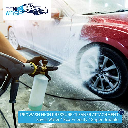 ProWash Car Wash Kit - High Pressure Washer Gun w/Soap Foam Blaster and 5 Washer Nozzles - Quick Connector to Any Garden Hose