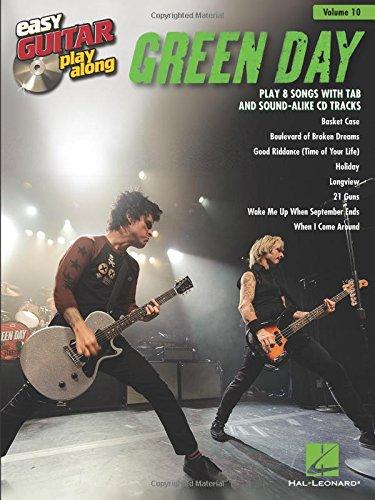 Easy Guitar Play-Along Volume 10: Green Day -Easy Guitar- (TAB Book & CD): Noten, CD, Play-Along, Grifftabelle für Gitarre