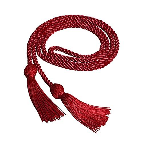 170cm Un Solo Color Cordón de Honor Borla Collage Graduados Graduación Estola Decoración-Rojo Vino