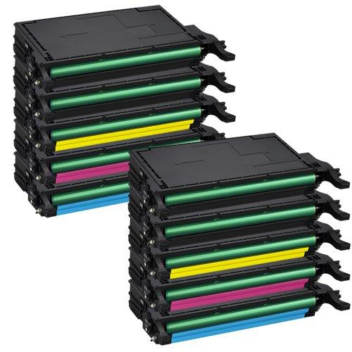 Tito-Express PlatinumSerie 10 Toner-Kartuschen XXL für Samsung CLP-620 Black Cyan Magenta Yellow CLX-6220FX CLX-6250FX kompatibel mit Samsung CLT-5082L