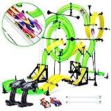 Peradix Pista Macchinine - La Traccia più Lunga - Loop a Doppia Corsia - Due Macchine Telecomandate - Competizione Professionale di Corse Automobilistiche - Giocattolo per Bambini - dai 5 + Anni