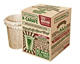 Disposable Natural Brown Unbleached Paper Coffee Filters - Replacement Filters For Keurig 2.0 Brewers - Compatible with All Reusable K-Carafe Pods - Serves 4 Cups - Use Your Own Coffee (100 Filters)