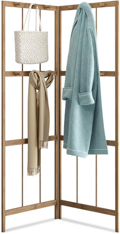 Solid Wood Fan-Shaped Coat Rack Combination Floor Folding Wall Clothes Rack Corner Hanger Bedroom Hanging Wall Coat Rack