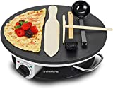 Andrew James Crepe & Pancake Maker | Electric 13 Inch Hot Plate With