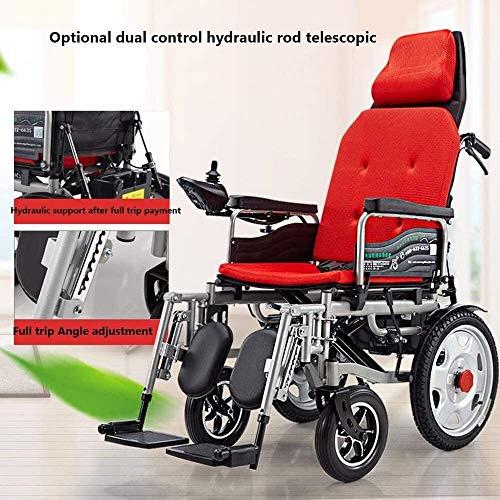 QUETAZHI Smart-Elektro-Rollstuhl Deck Sitz Ice Pad Dekomprimierung kann das Flugzeug Carry 240 Kg Lasteinkauf Rollstuhl QU523