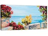 canvashop quadri moderni soggiorno cm 100x50 mare 14 quadro stampa su tela canvas golfo di napoli