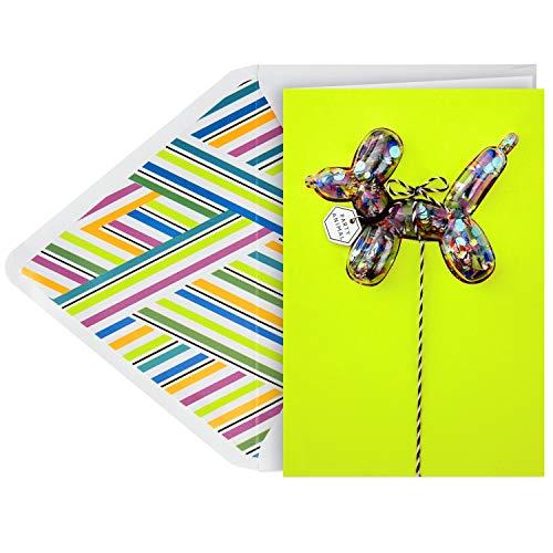 Hallmark Signature Birthday Card (Confetti Balloon Animal)