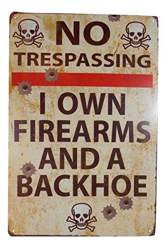 Strosportsandtech Warning No Trespassing Funny Tin Sign Bar Pub Garage Home Art Wall Decor Poster