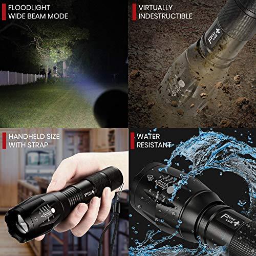 PeakPlus Super Bright LED Tactical Flashlight