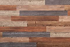 Easy peel and stick installation No heavy duty tools required 20 assorted planks per box Real wood look and feel No hurtful splinters Stain and fade resistant Waterproof