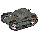 CALEN Technics Tiger Tank Building Blocks, 310 piezas T-26 soviética tanque ligero WW2 modelo militar bloques de sujeción compatibles con Lego Technic