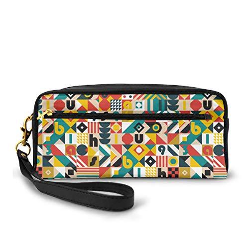 Bauhaus Movement Kosmetiktasche, tragbar, Schüler, Federmäppchen für Mädchen und Frauen, Handtasche, Geldbörse, Make-up-Tasche