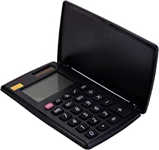 $27 » TANYTAO-SHOP Desktop Calculator Portable Calculator Pocket Small Calculator Small 8-Digit Cover Battery Dual Power Black C...