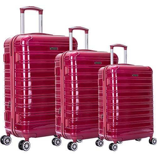 Juego de 3 maletas ZIFEL – ABS – 4 ruedas – 50 cm – 60 cm – 70 cm