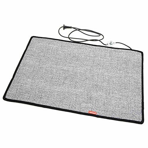 Fireproof Grau 50x75cm beheizbare Bodenmatte mobile Heizgeräte Fußbodenheizung