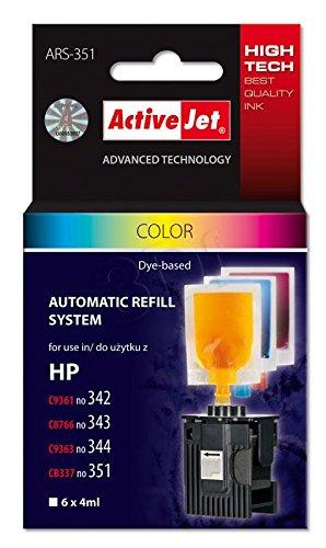 ActiveJet ARS-351 inkt Refill-set (geschikt voor HP 342/343/344/351) gekleurd