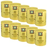 Cabiclean 10 Pack Disposable Collection Filter Bags Compatible with Shop-Vac 9066200 10-14 Gallon Type F + Type I, Replace Part # 90662 and # 90672, Yellow