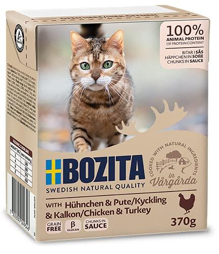 Bozita Cat Tetra Recard Häppchen in Soße Huhn + Pute 370g