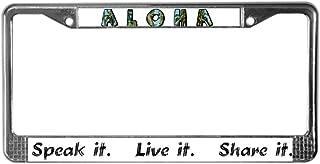 Best aloha license plate frame Reviews