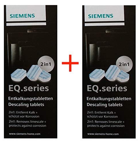 Siemens TZ80002 Entkalkungstabletten für EQ Series, 2 Packungen 6 Tabletten