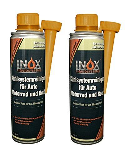 INOX® Kühlsystemreiniger Additiv, 2 x 250 ml - Kühlerschutz für Auto, Motor und Boot