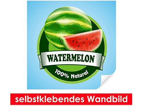 Zelfklevende muurschildering watermeloen stickers – gemakkelijk te plakken – muurprint, wallpaper, posters, vinylfolie met puntlijm voor muren, deuren, meubels en alle gladde oppervlakken van trendy muren 80x80cm