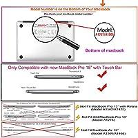 FULY-CASE プラスチック製のウルトラスリムライトハードシェルケース対応のある新しいMacBook Pro 15インチタッチバー/タッチIDUSキーボードカバー A1707/A1990 (大理石 0231)