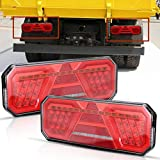 Mesllin LED Stop Fanale posteriore impermeabile Indicatori di direzione di retromarcia Luci di retromarcia per moto ATV per rimorchio, 2 pezzi