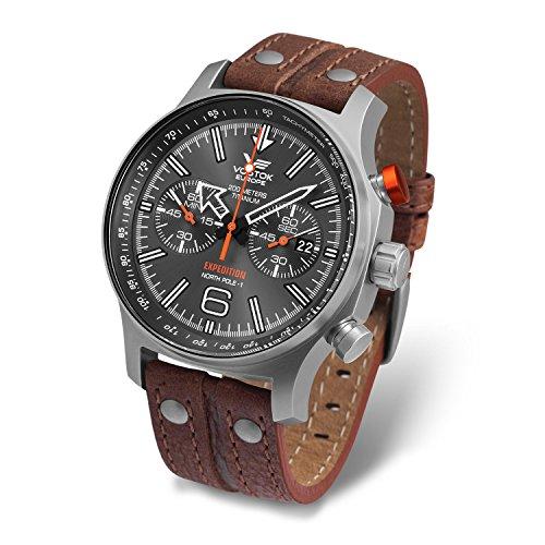 Vostok-Europe 6S21/595h298Expedition Polo Norte 1Titanio Reloj
