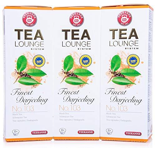 Teekanne Tealounge Kapseln- Finest Darjeeling No. 103 Schwarzer Tee (3x8 Kapseln)