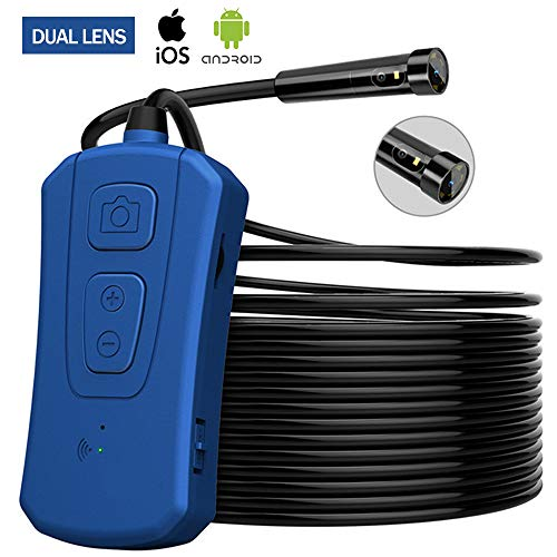 YUANYI Endoscope Inspection Camera,Wireless Inspection Camera WiFi Endoscope,720P WiFi Borescope Waterproof IP67 with Semi-Rigid Cable,Compatible with iOS, Android,10m