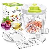 RIGUTTO® Premium Zwiebelschneider mit Seilzug [Mehr als 7 Funktionen] + Gemüse E-Book -...