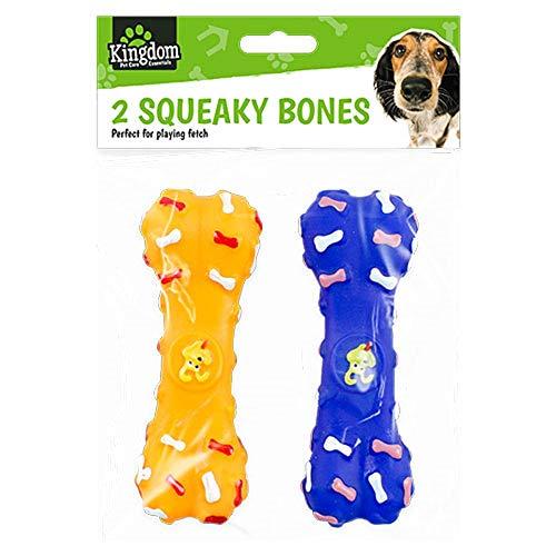 Ozmoint Hundespielzeug-Set mit Quietschelement, 2 Stück