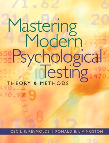 Mastering Modern Psychological Testing: Theory & Methods Plus MySearchLab with eText -- Access Card Package