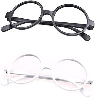 Retro Classic Geek Nerd Style Big Round Shape Costume Glasses Frames NO LENSES 2 Pieces Color Set34