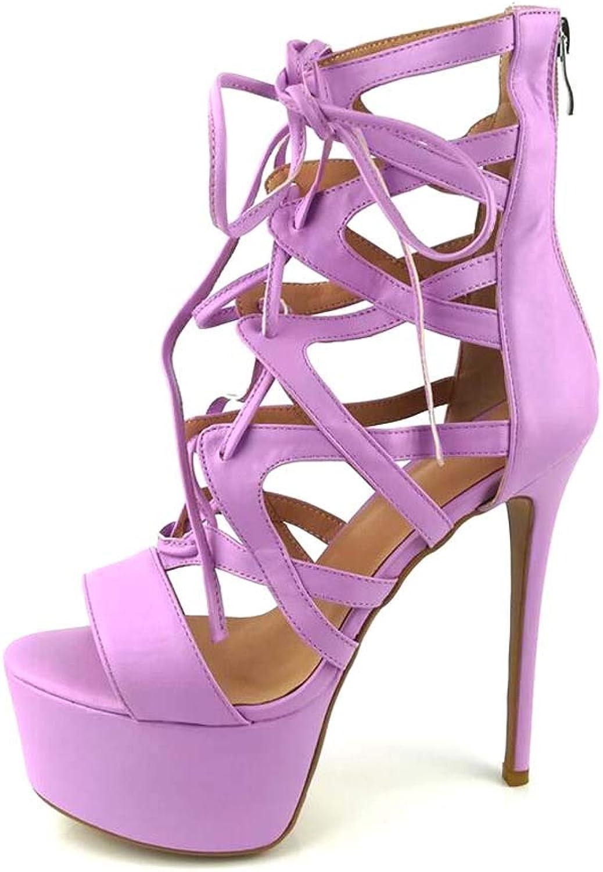 Womens Platform Sandals,PU Summer Fall Slingback Basic Pump shoes Chunky Heel Round Toe Party & Evening