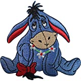 Disney Winnie the Pooh Eeyore Patch Embroidered Badge Iron On Sew On T Shirt Bag