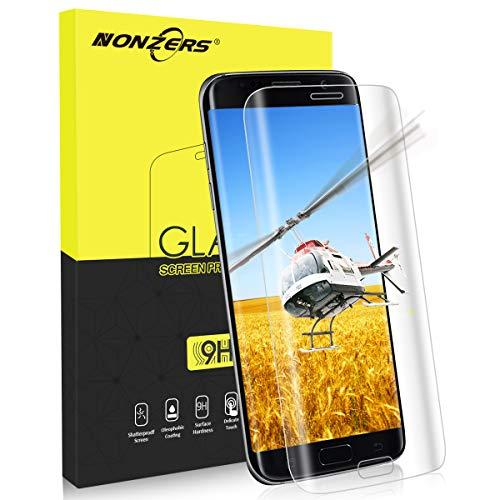 NONZERS Panzerglasfolie für Samsung Galaxy S7 Edge, Ultra-klar 3D Vollständige Abdeckung 9H Härtegrad, Anti-Kratzen, Staub,Einfaches Anbringen Displayschutzfolie Schutzfolie
