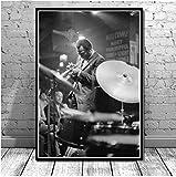 Miles Davis Blue Jazz Musik Album Popstar Poster Wandkunst