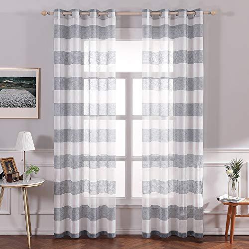 cortinas cortas rayas