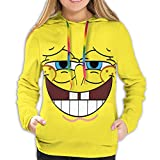 Angela R Mathews Cartoon Spongebob Schwammkopf 3D-Druck Frauen Hoodie Sweatshirt Pullover Kapuzenpullover Grafik Prints Pullover Gr. XL, Spongebob Schwammkopf 7