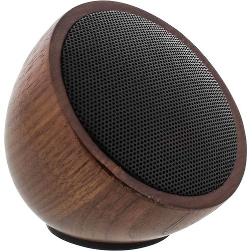 InLine 55380H woodwoom, Mini Bluetooth Walnuss-Holz Lautsprecher, 52mm