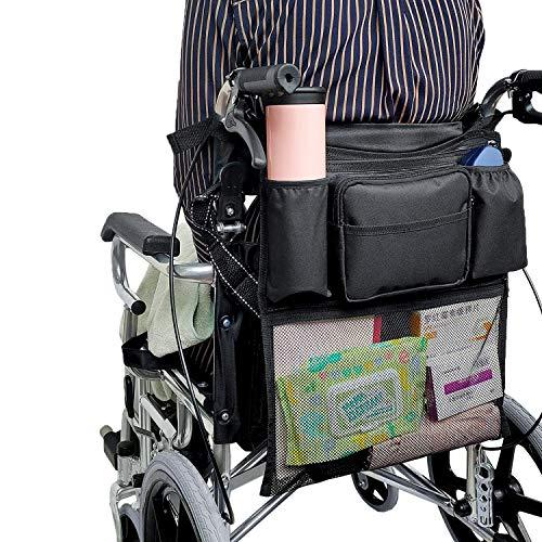 Aufbewahrungstasche für Rollstühle, Rollstuhlzubehör Tasche, , Rollstuhl, Elektrorollstuhl Spezial (schwarz)