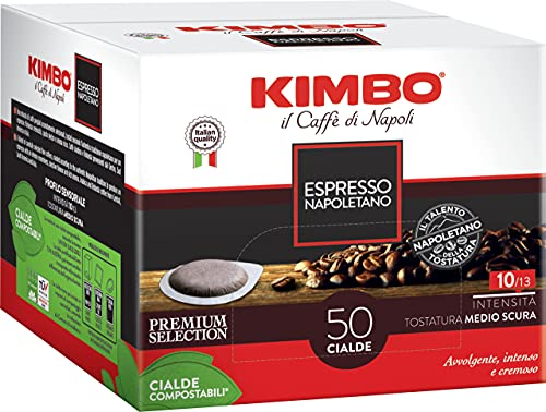 Kimbo Caffe' (400) CIALDE CAFFE MISCELA ESPRESSO NAPOLETANO ESE 44MM