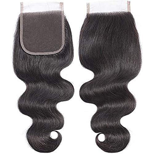 fgfh 4 x4 perruque de couleur naturelle tissée à la main bloc de cheveux perruque en dentelle ondulée trois pièces 8, 10, 12 pouces
