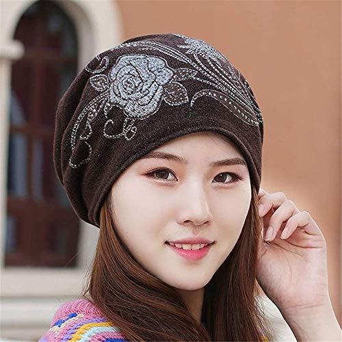 MZHAOANHE Sombreros de Mujer Otoño Invierno Espesar Grandes muelles Toalla Sombrero Casquillo...